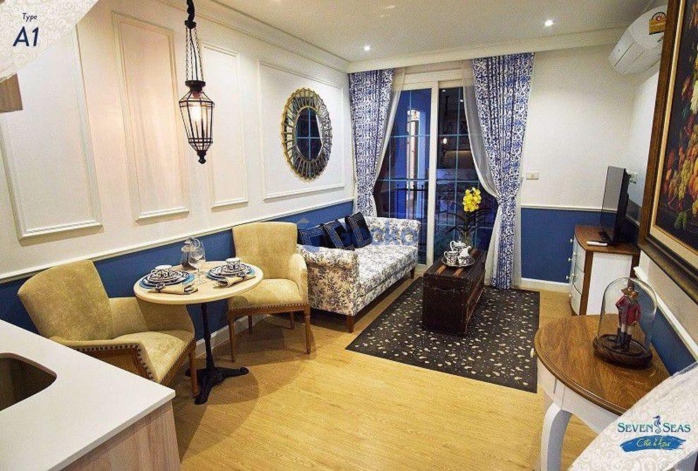 รูปภาพ 1  Bedroom bed in Condo in Seven Seas Cote D'Azur in Na Jomtien C009163